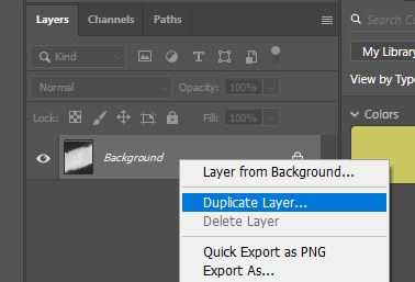 duplicate background layer photoshop