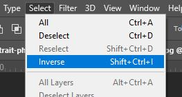 selection inverse in photoshop