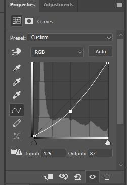 photoshop curves settings