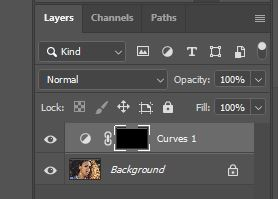 photoshop curves layer with mask