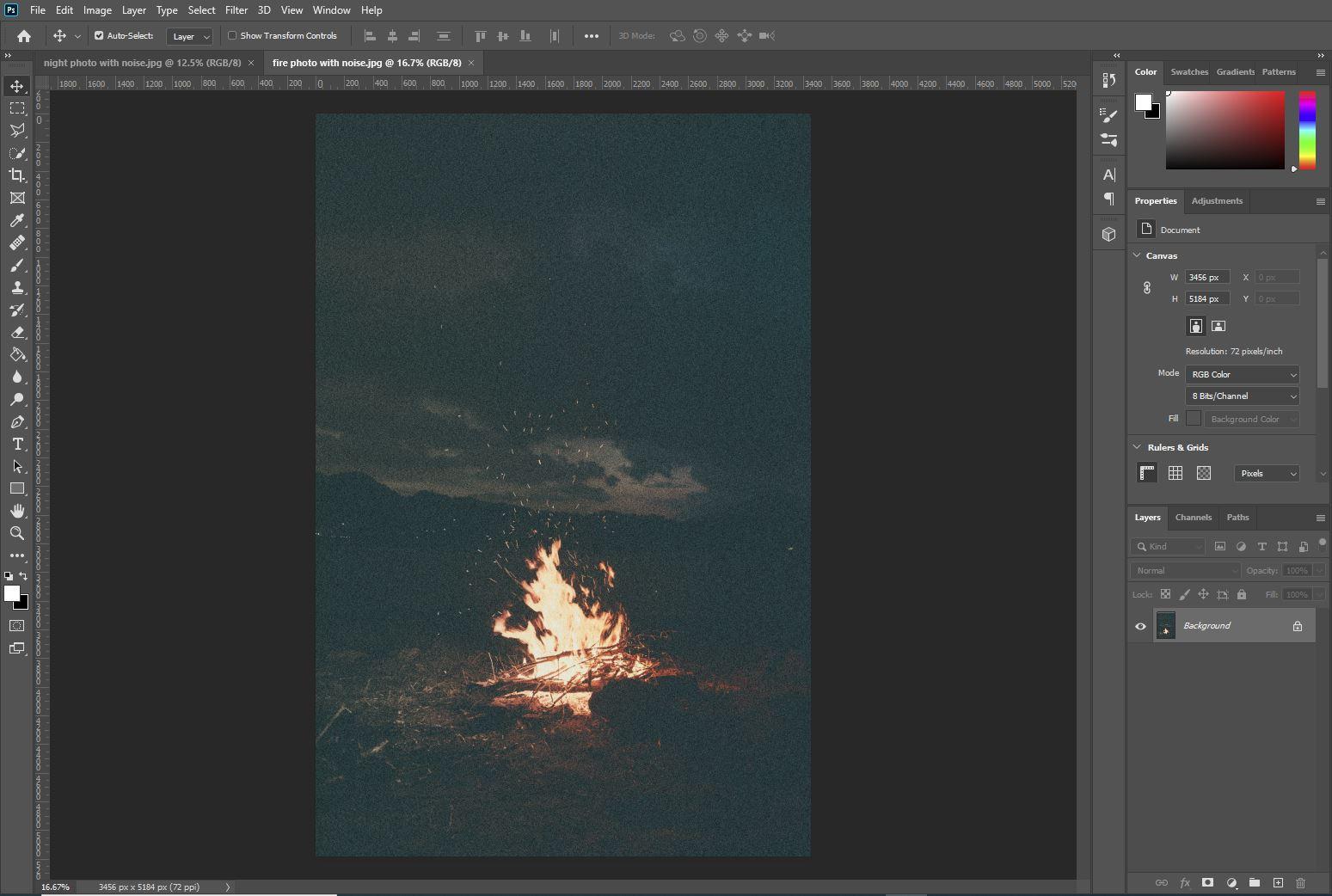 photoshop fireplace