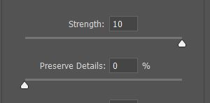 photoshop noise reduction filter strength