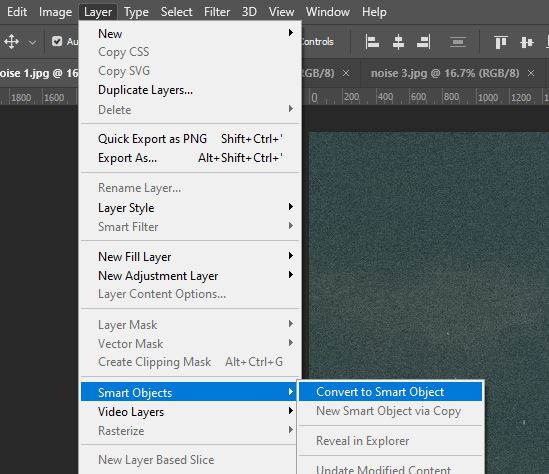 photoshop convert to smart object