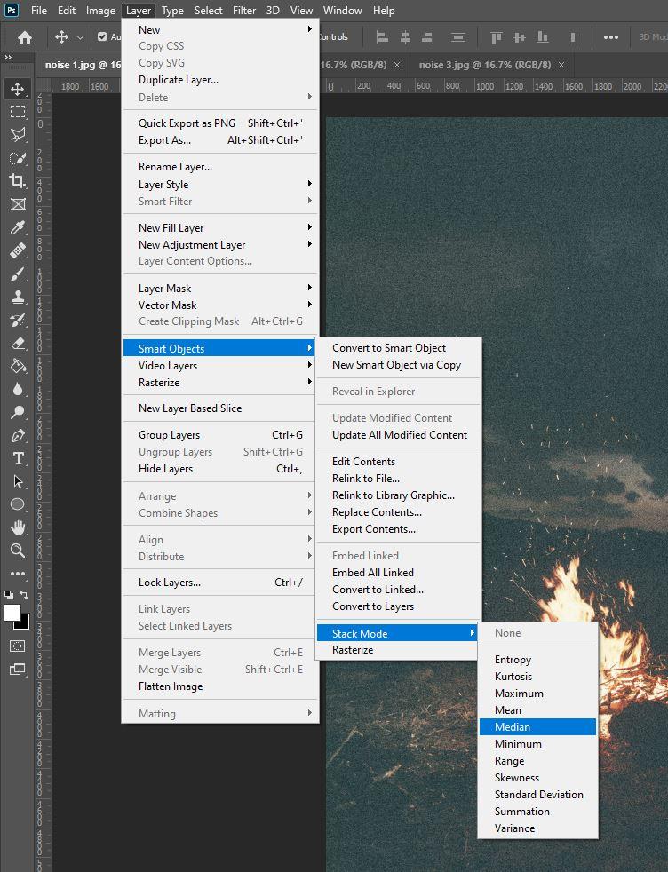 photoshop stack mode median