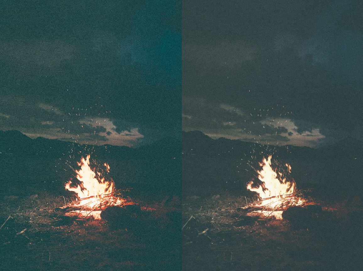photoshop noise reduction before after