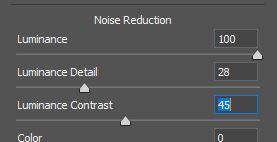 camera raw photoshop noise reduction