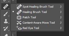 photoshop spot healing brush tool