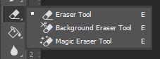 photoshop eraser tool