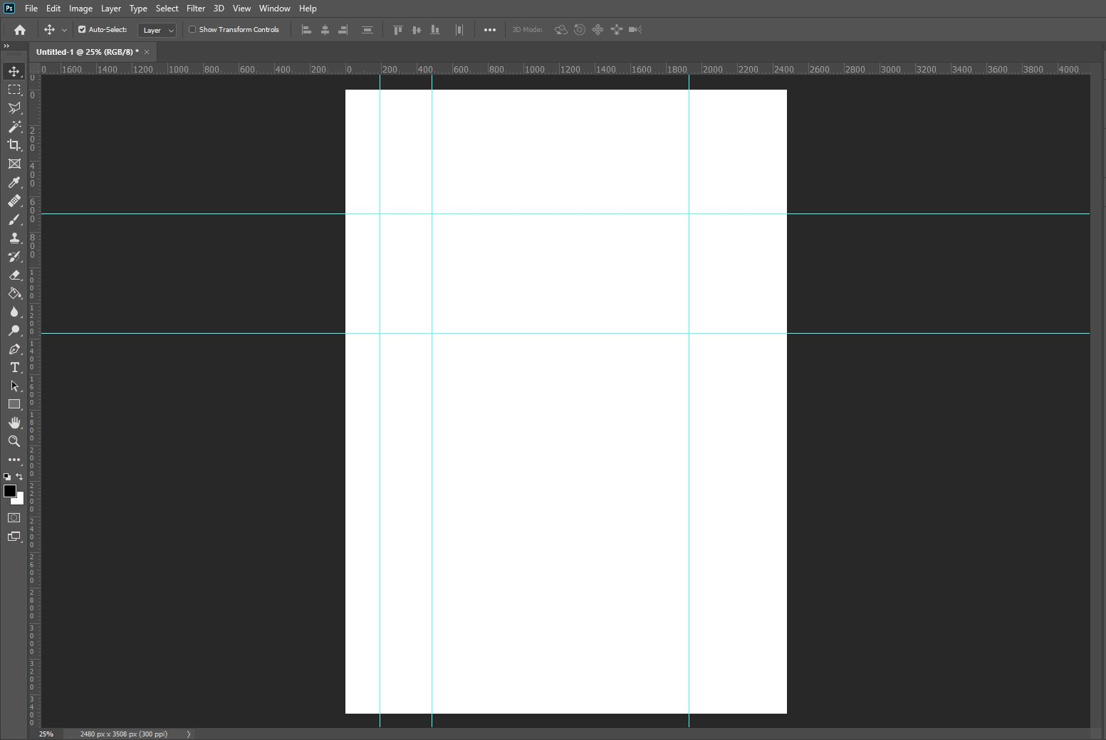 photoshop grids and guides
