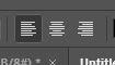 photoshop text alignment