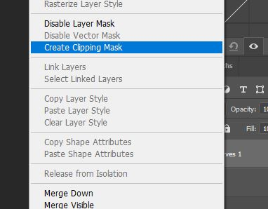 photoshop create a clipping mask