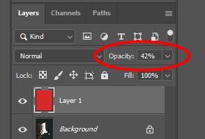 photoshop 45% opacity