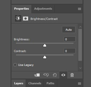 photoshop brightness and contrast layer