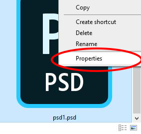 right click on photoshop icon
