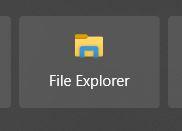 file explorer icon window