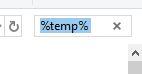 search temp files explorer windows