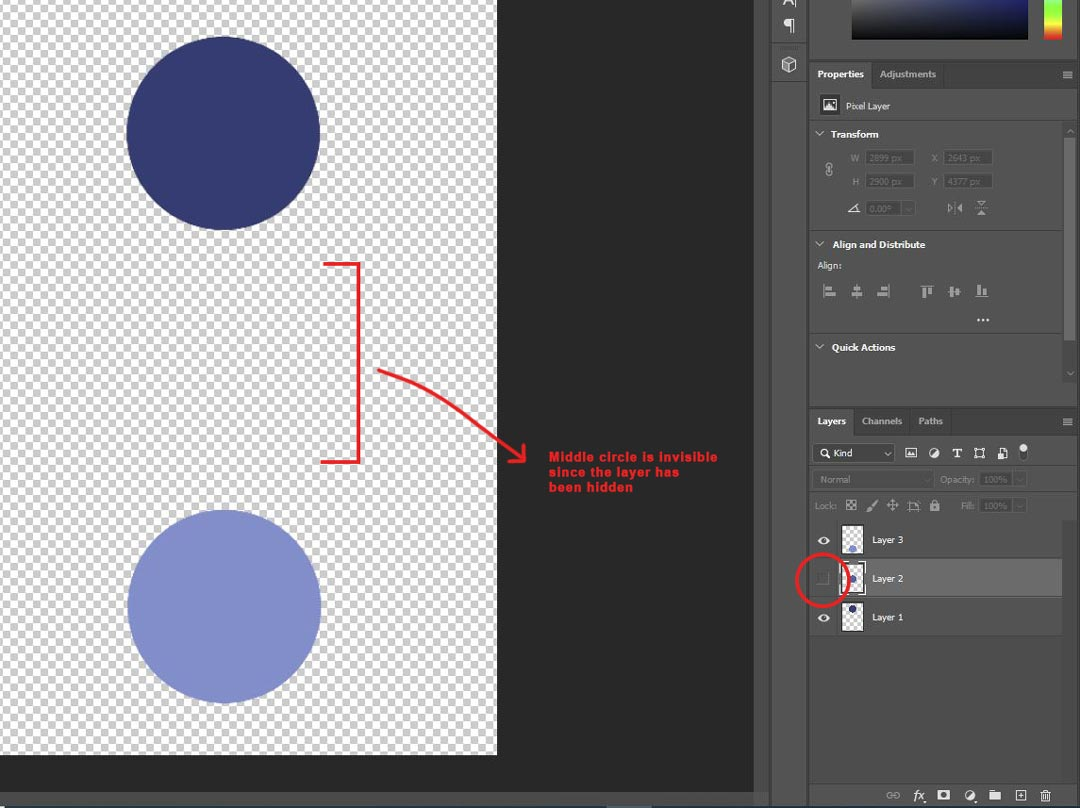 Photoshop blue dots document