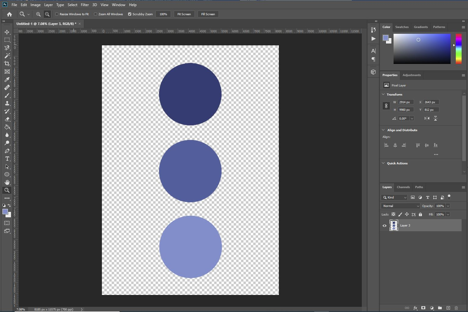 Photoshop merge layers result