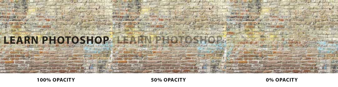 photoshop opacity example