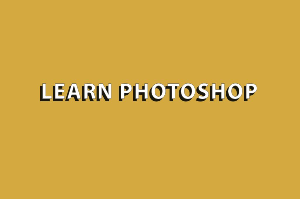 learn photoshop on yellow background