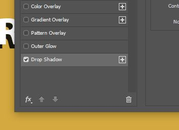 Photoshop drop shadow layer style