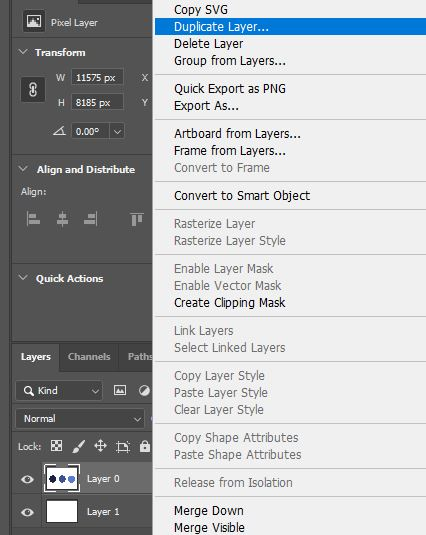 Photoshop duplicate layer