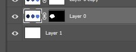Photoshop layer mask in the layer panel