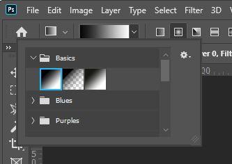 gradient selection photoshop