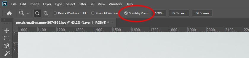 photoshop scrubby zoom