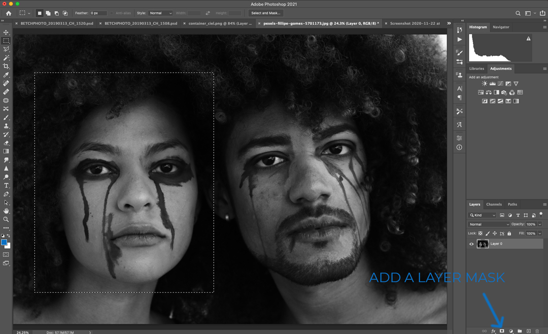 add a layer mask in photoshop