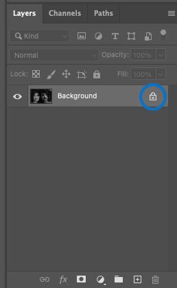 unlock background layer in photoshop