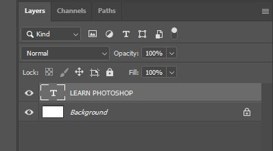 learn photoshop text layer