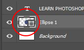 elipse layer photoshop
