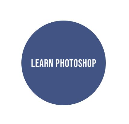 learn photoshop in a blue circle
