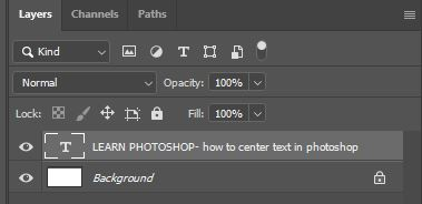 learn photoshop type layer photoshop
