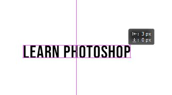 guide on text photoshop