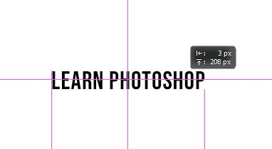 guide with text layer in photoshop