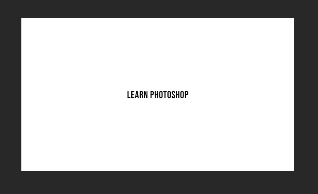learn Photoshop black on white