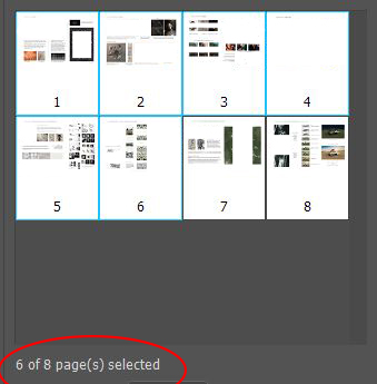6 of 8 pages from pdf selected