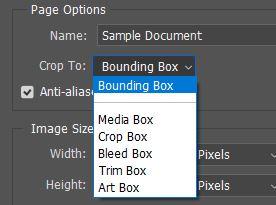 crop to photoshop pdf