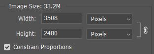 image size for opening pdf in photoshop