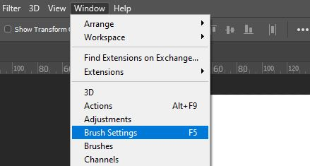 brush settings photoshop