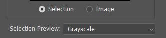 selection preview Grayscale