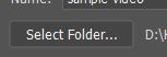 select folder render video photoshop