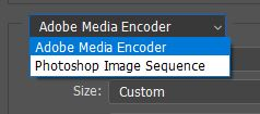 adobe media encoder from photoshop