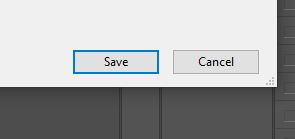 save button photoshop