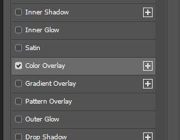 color overlay layer style option photoshop