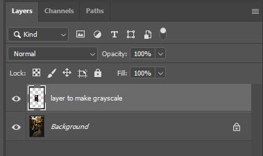 layer to make grayscale