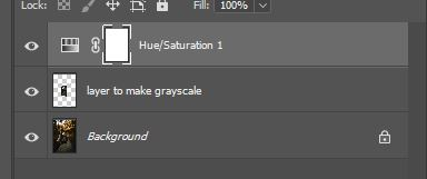 hue and saturation layer