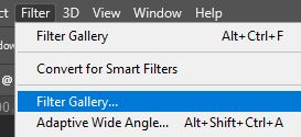 filter gallery photoshop